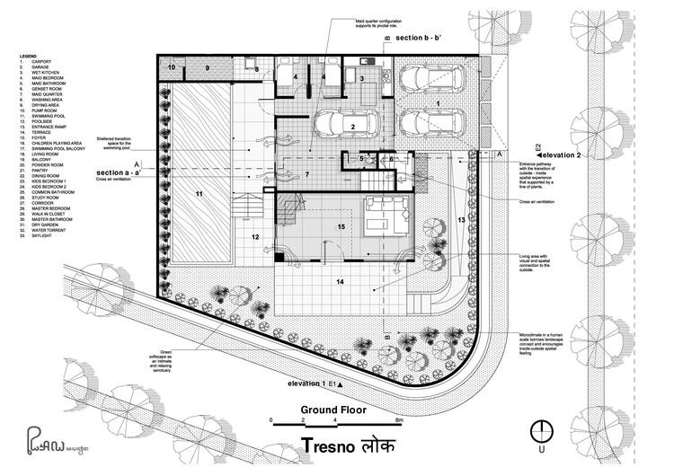 R1 190710 49 Omah Le Beton Ground Floor Plan - Tresno House / RAW Architecture: Biệt thự hiện đại cây xanh và hồ bơi