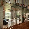 03 Atrium to Stair(2) - Tresno House / RAW Architecture: Biệt thự hiện đại cây xanh và hồ bơi