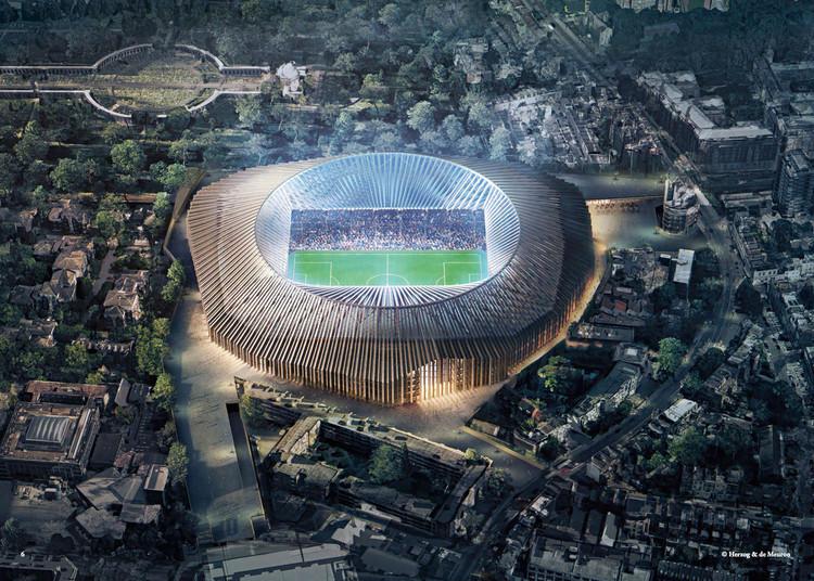 El estadio Chelsea FC de Herzog & de Meuron no continuará su desarrollo, Cortesía de Herzog & de Meuron