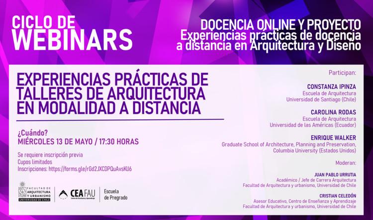 Experiencias prácticas de talleres de arquitectura a distancia: Constanza Ipinza, Carolina Rodas y Enrique Walker