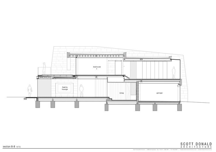 006 section BB - Jura House: Biệt thự hiện đại 540m2 sử dụng các tấm kính lớn nhiều ánh sáng