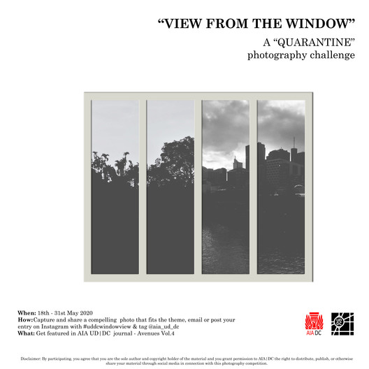 """View from the Window""  a Quarantine Photography Challenge. Graphic Credit: Kumi Wickramanayaka"