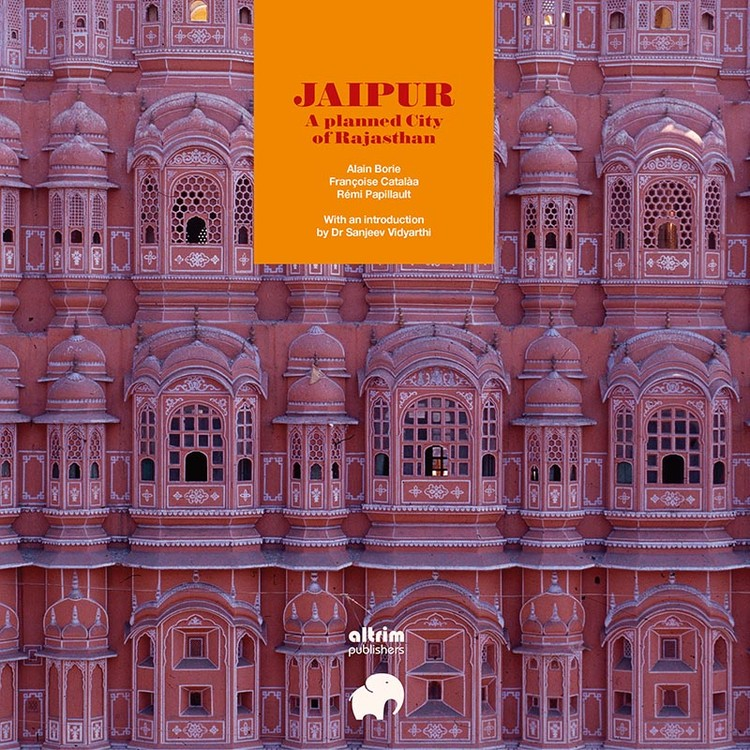 Jaipur, A planned City of Rajasthan, Hawa Mahal, facade detail, by Alain Borie