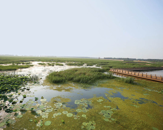 Design With Nature Now revisits Ian McHarg's eponymous 1969 book and takes stock of current practices and projects of resilience in landscape design the world over, such as AECOM's Weishan Lake National Wetland Park in Shandong, China. Courtesy AECOM