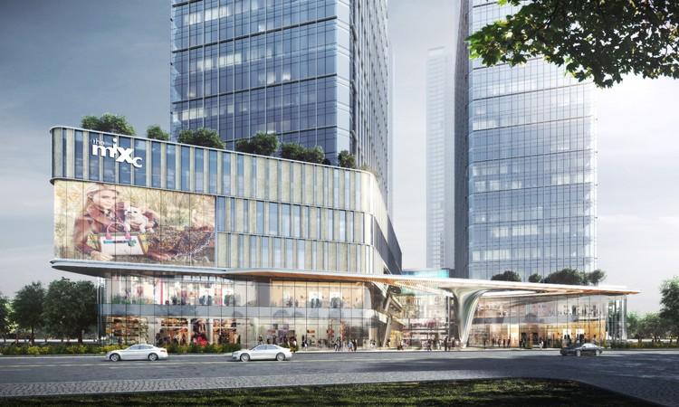 Complexo de uso misto projetado por 10 DESIGN está em construção em Shenzhen, Cortesia de 10 DESIGN