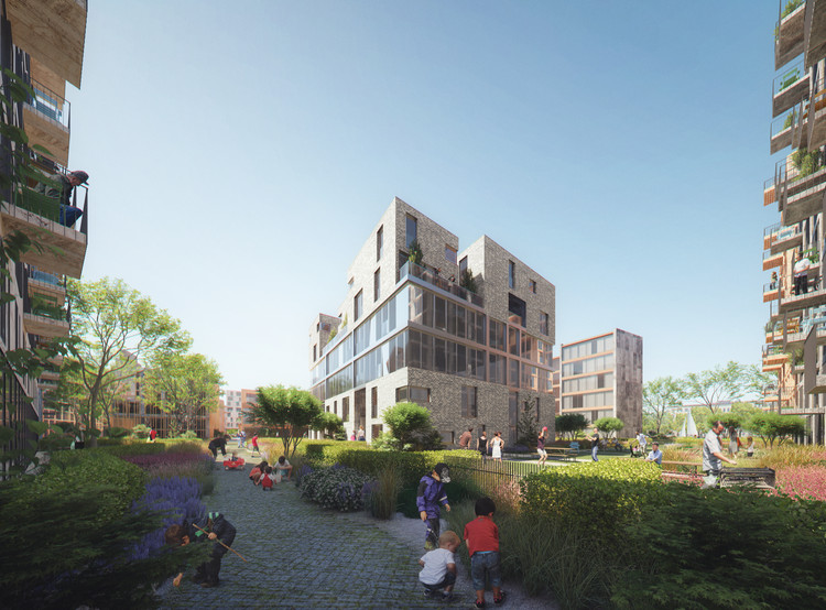 Mecanoo Designs Marktkwartier Neighborhood Masterplan for Amsterdam, Courtesy of Mecanoo