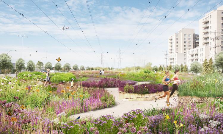 A Multidisciplinary Landscape Architecture Competition Generates a Biodiversity Corridor for Montréal, © civiliti, LAND Italia, Table Architecture, Biodiversité Conseil