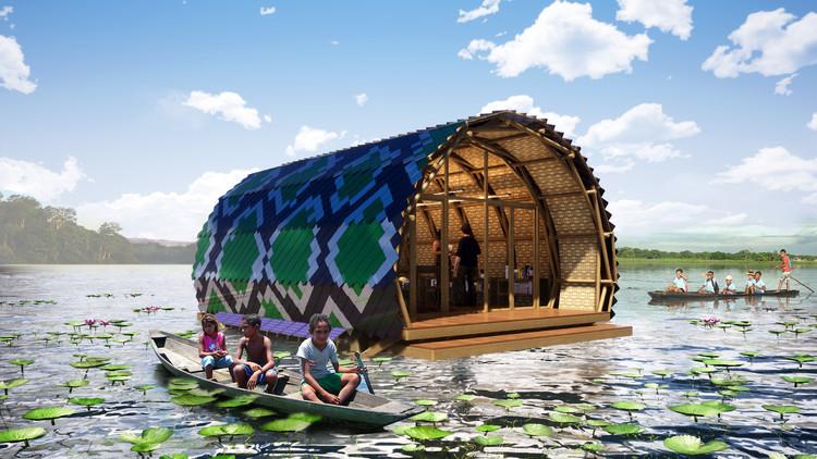 Atelier Marko Brajovic projeta biblioteca flutuante na Floresta Amazônica, Cortesia de Atelier Marko Brajovic