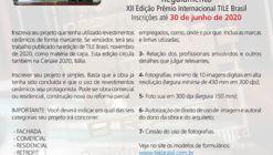 Inscrições Abertas para o XII Prêmio Internacional TILE Brasil - Projeto com Cerâmica