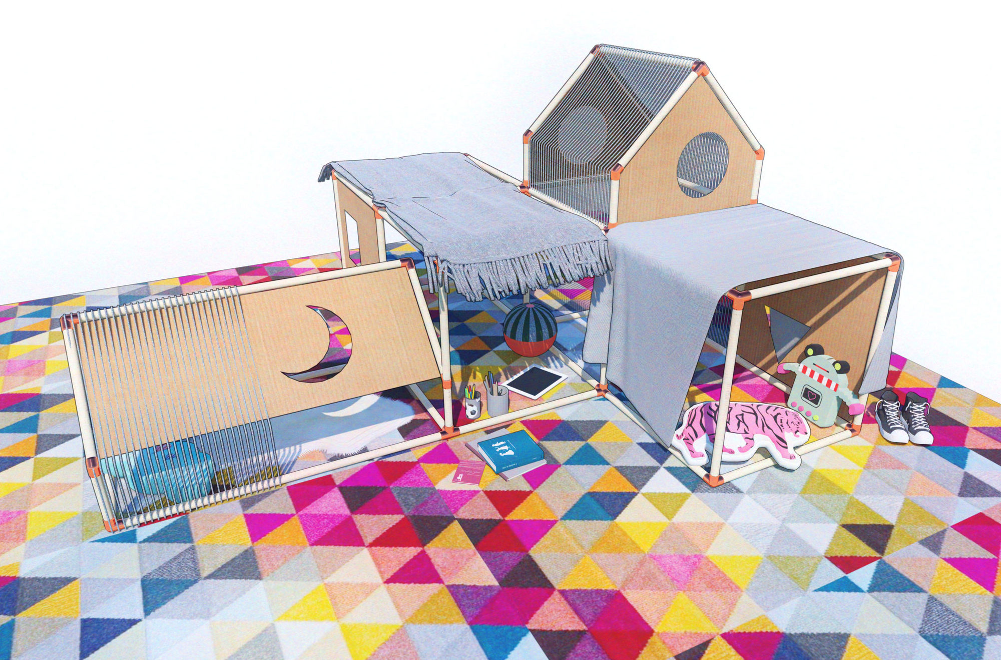 K 12 Education Team At Perkins And Will Designs Blanket Fort For Kids During Covid 19 Archdaily