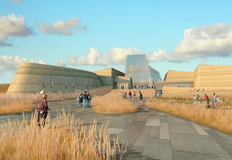 Henning Larsen, Snøhetta and Studio Gang Shortlisted for Theodore Roosevelt Presidential Library, Previous Theodore Roosevelt Presidential Library Concept. Image Courtesy of JLG Architects