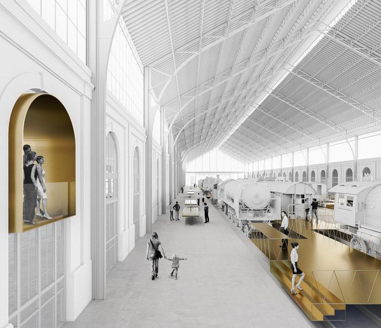 Ganadores del concurso para rehabilitar el Museo del Ferrocarril en España, Cortesía de Consejo Superior de los Colegios de Arquitectos de España