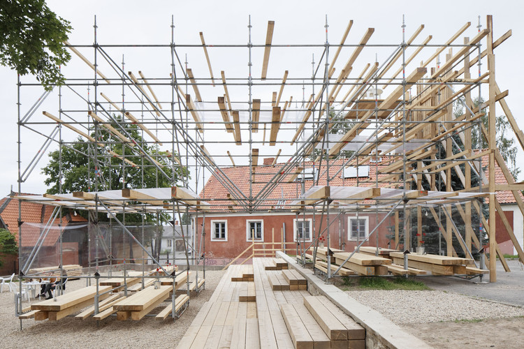 Public Spaces with Scaffolding: an Alternative in Emergency Situations, © Ansis Starks