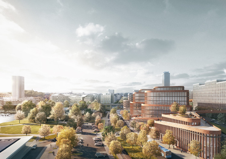 3XN Wins Competition to Design an Office Building in Stockholm, Courtesy of 3XN/SBK/ White arkitekter