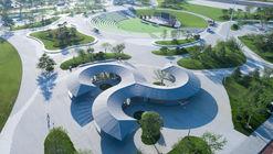 Readers Pavilion at Citizen Cultural Park, Rongcheng / art+zen architects