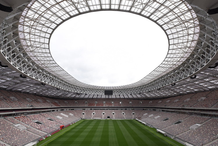 How AR and VR Will Enhance the Future of the Sports Arena Experience, Luzhniki Stadium, designed by Russia-based firm SPEECH. Image © Dmitry Chistoprudov