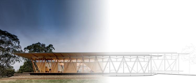 10 obras que utilizan BIM como parte esencial del proceso de diseño, Incubadora Universidade Macquarie / Architectus. Foto de base © Brett Boardman