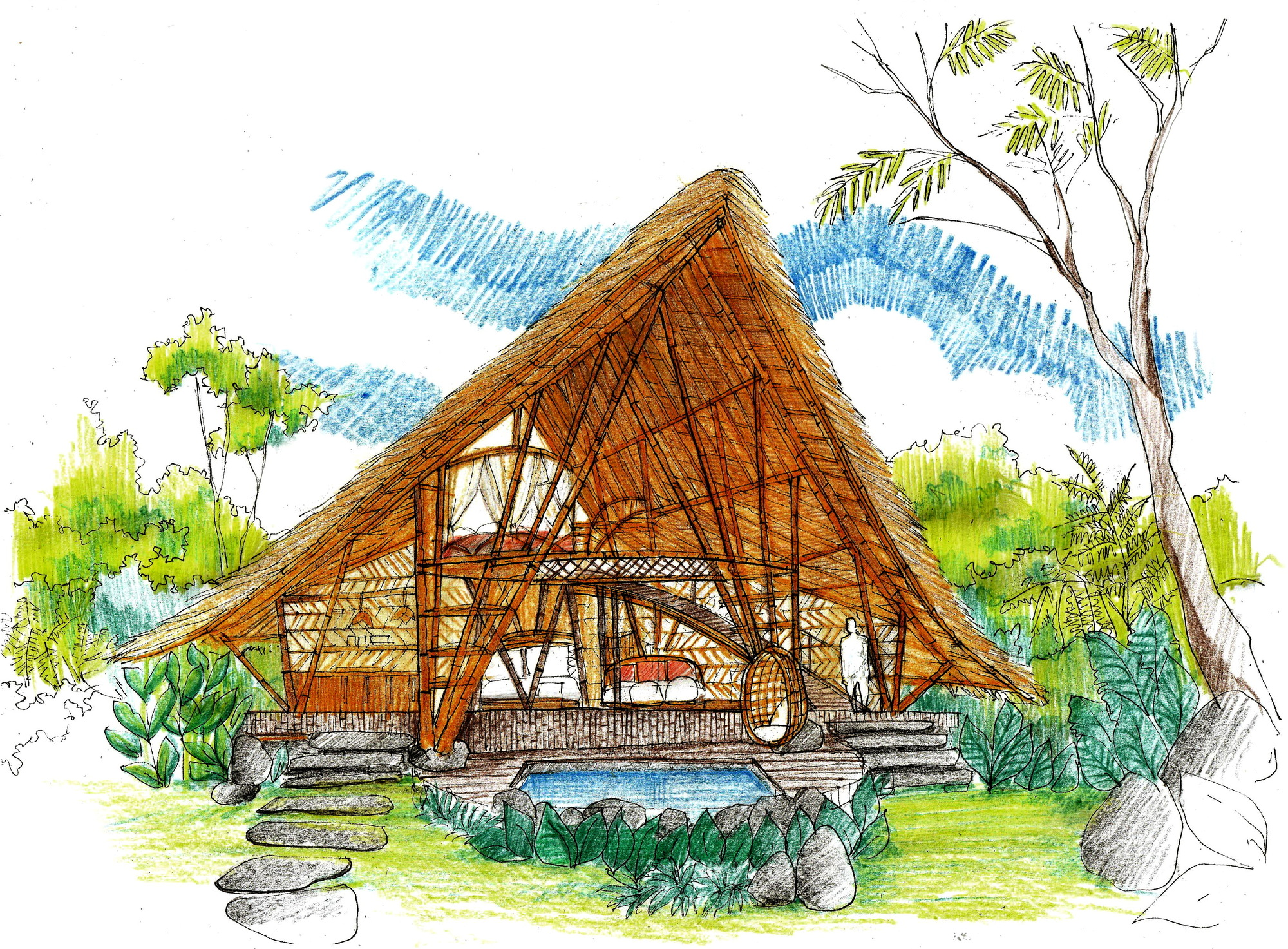 Picture of: Gallery Of Hideout Horizon Bamboo House Studio Wna 30