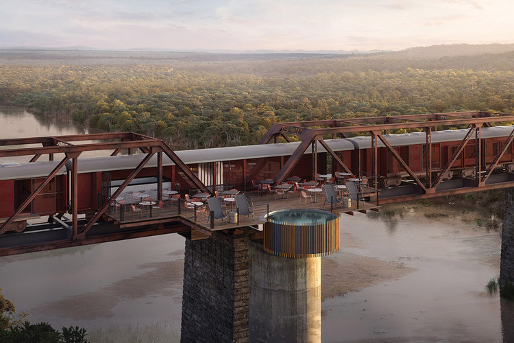 1950s Train Cars to Become Boutique Hotel Above South Africa's Sabie River, Courtesy of Kruger Shalati