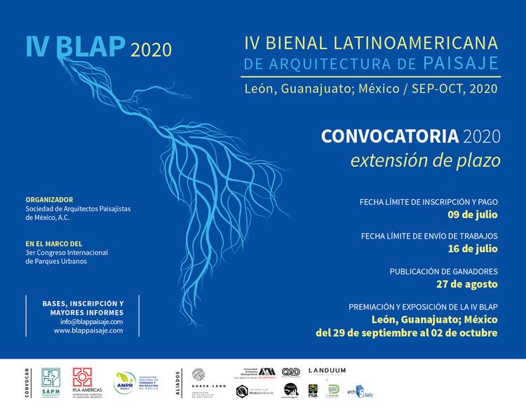 IV Bienal Latinoamericana de Arquitectura de Paisaje, IV Bienal Latinoamericana de Arquitectura de Paisaje 2020