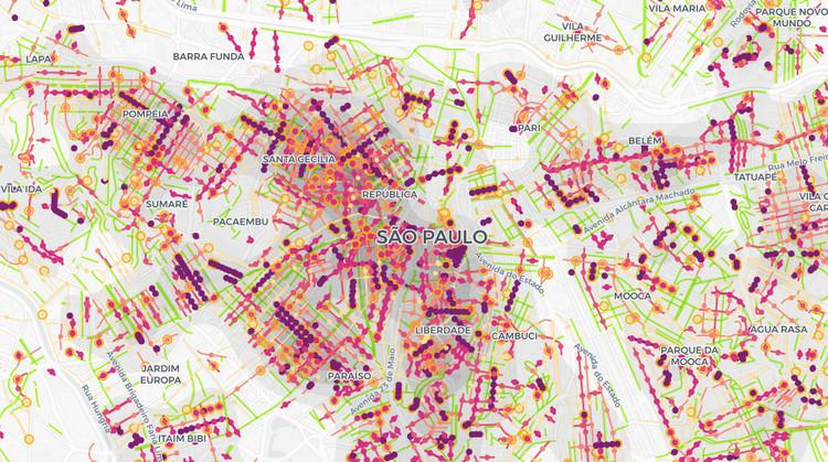 LabCidade cria série de mapas temáticos sobre a difusão espacial da COVID-19, Imagem do Mapa criado pelo LabCidade da FAUUSP. © OpenStreetMap contributors, © MapTiler, © CARTO