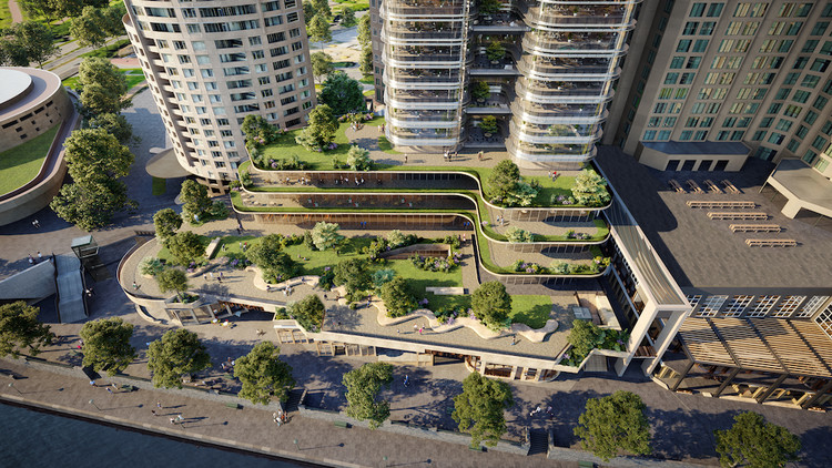 Fender Katsalidis Designs $800 Million Masterplan for Melbourne's Southgate, Courtesy of Fender Katsalidis