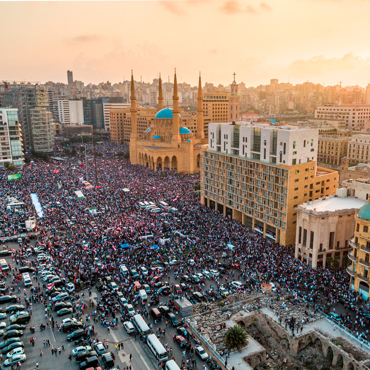 Public Spaces: Places of Protest, Expression and Social Engagement, Martyrs' Square, Beirut. Image © Rami Rizk