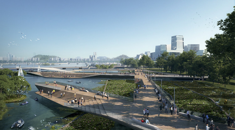 NBBJ Designs Car-Free Neighborhood for Tencent in Shenzhen, China, Courtesy of NBBJ