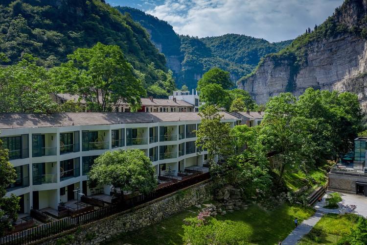 westliche Gästezimmer Luftaufnahme. Bild © Jinge Song