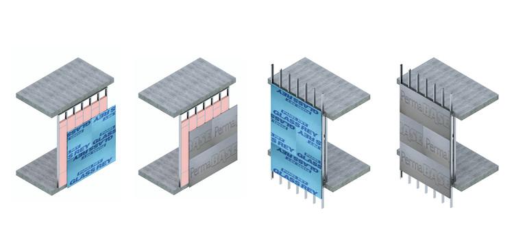 Fachadas leves: Como o drywall e as chapas cimentícias funcionam?, Cortesía de Panel Rey