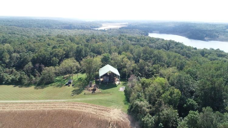 Aerial view of Menokin. Image Courtesy of Menokin Foundation