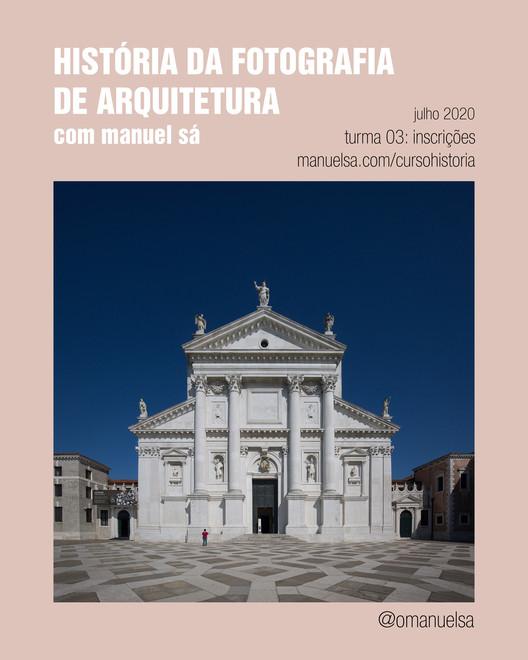 Curso online: História da Fotografia de Arquitetura, cartaz do curso