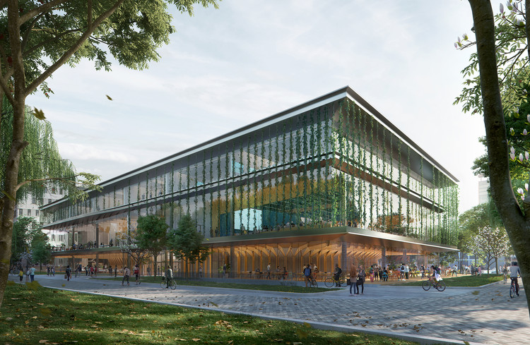 UNStudio projeta edifício educacional flexível para a TU Delft nos Países Baixos, © Plompmozes