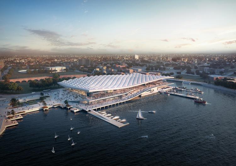 El mercado de pescados de Sídney diseñado por 3XN recibe permiso de construcción, © 3XN