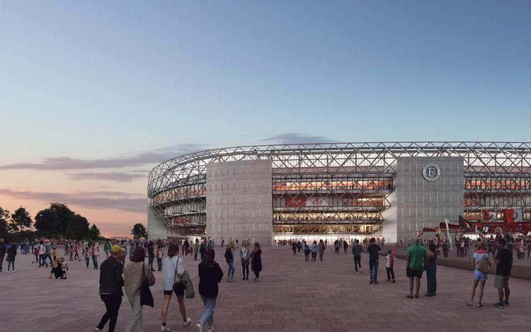 OMA y LOLA revelan imágenes del nuevo estadio Feyenoord en Rotterdam, Cortesía de OMA y Beauty & The Bit
