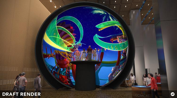 estructura de realidad virtual que emula atmósferas del espacio exterior de Foster + PArtners. Image Cortesía de Immersive