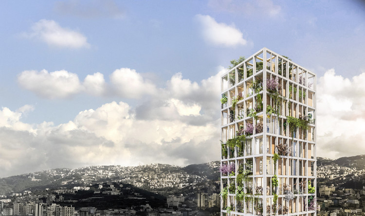 Anastasia Elrouss Designs a Vertical Eco-Village in Beirut, a New Way to Inhabit the Built Environment , Vertical Eco-Village: Urban Lung of Beirut . Image Courtesy of Anastasia Elrouss Architects