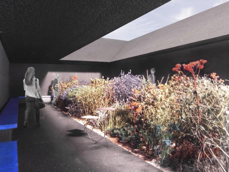 Foto de maqueta del Serpetine Pavilion por Peter Zumthor. Image Cortesía de Museum Associates / LACMA