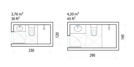 Dimensiones Mínimas Y Configuraciones Eficientes Para Baños Pequeños Plataforma Arquitectura