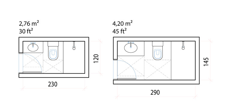 Minimum Dimensions And Typical Layouts For Small Bathrooms Archdaily