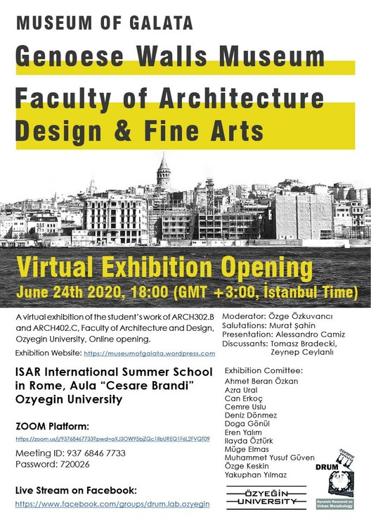 Virtual Exhibition Opening: Museum of Galata, Museum of Galata Virtual Exhibition Opening Poster