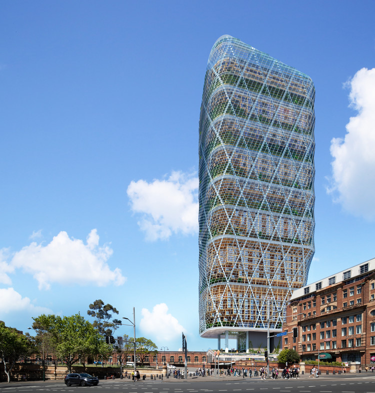 The World's Tallest Hybrid Timber Tower is Under Construction in Sydney, Australia, Courtesy of SHoP / BVN