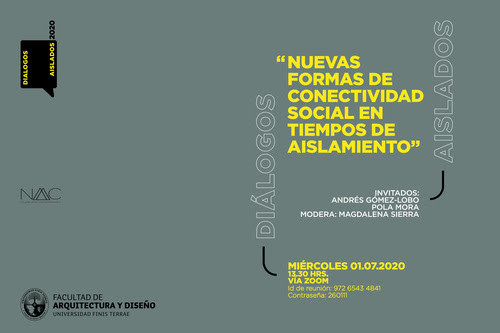 """Diálogos aislados: """"Nuevas formas de conectividad social en tiempos de aislamiento"""""""