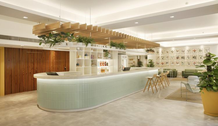Lobby Hotel B&B Copacabana  / PKB Arquitetura, © Juliano Colodeti - MCA Estudio