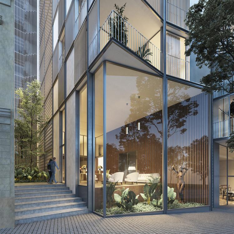 OAB y Hauser diseñan edificio de usos mixtos para el centro histórico de Montevideo, Cortesía de Hauser Oficina de arquitectura