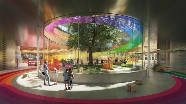 BIG projeta a fábrica de móveis mais sustentável do mundo, The Plus. Cortesia de Lucian R