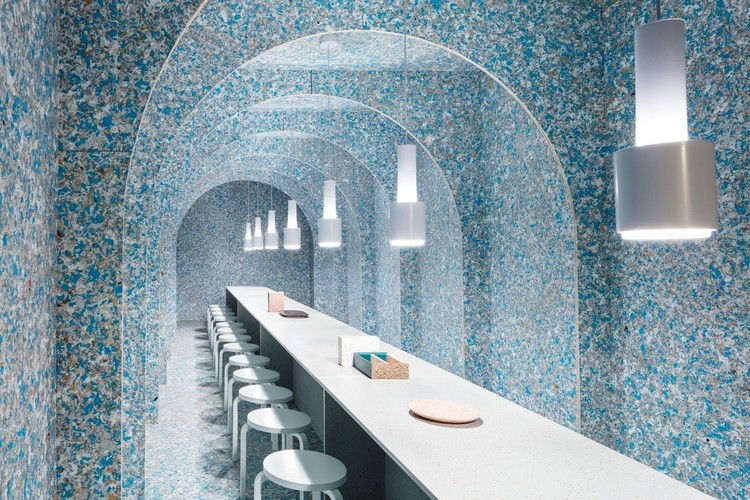 Reused and Recycled Materials in 10 Interior Design Projects, Zero Waste Bistro Restaurant / Linda Bergroth. Image: © Nicholas Calcott