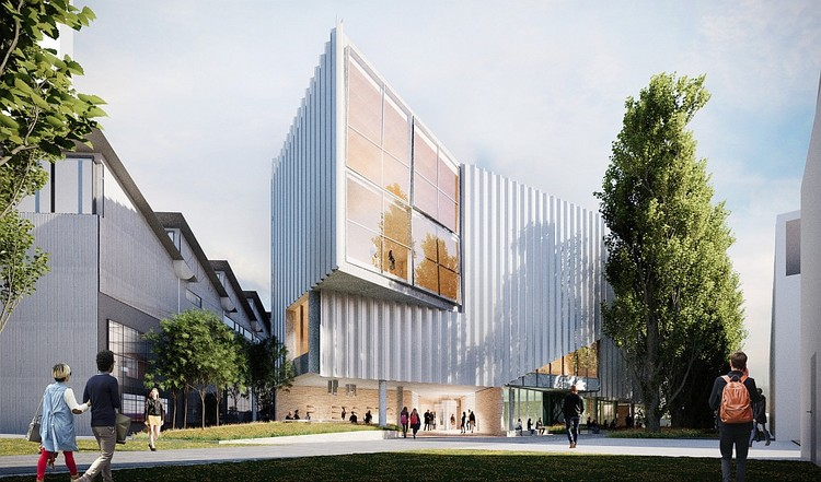 John Wardle Architects Designs Pair of Industrial Buildings for University of Tasmania, River's Edge Building. Image Courtesy of University of Tasmania