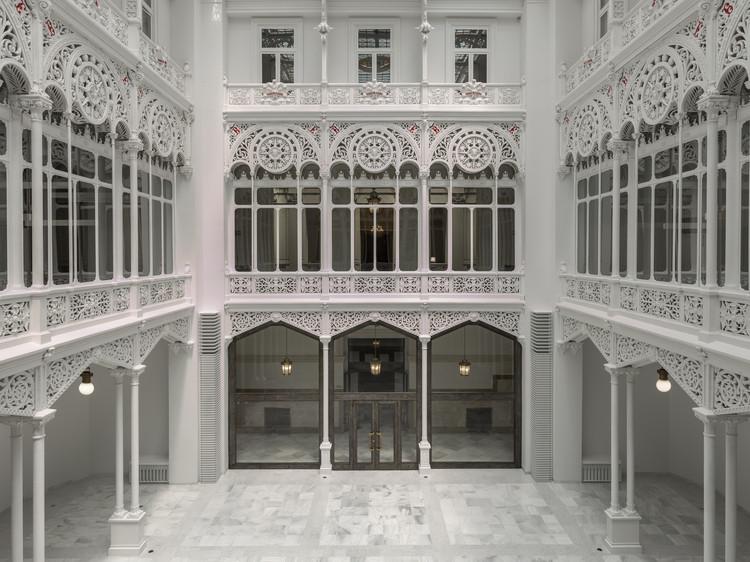 Restauración sala de lectura Biblioteca Banco de España / Matilde Peralta del Amo, © Luis Asin