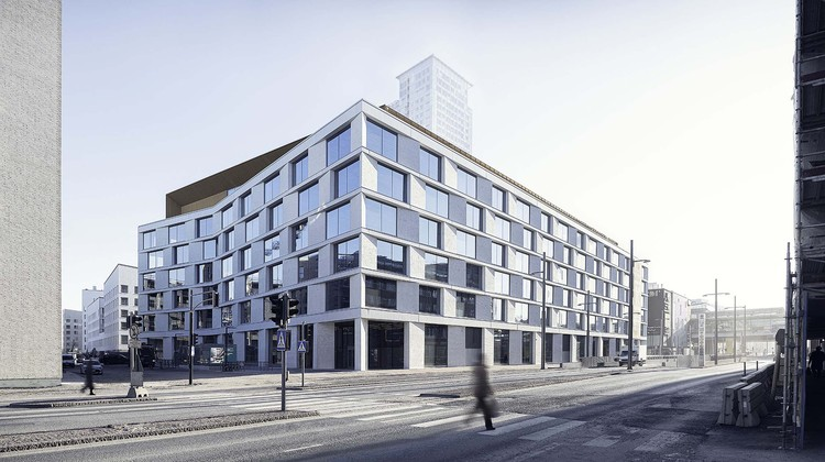 K-Kampus / JKMM Architects, the office building within the community. Image © Hannu Rytky
